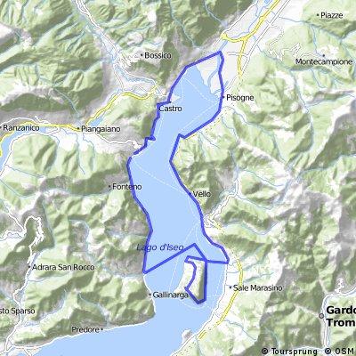 Tour du lac d Iseo par l ile monte isola