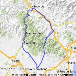 Bétera-Pico Aguila-Segorbe-Torres Torres-Oronet-Bétera