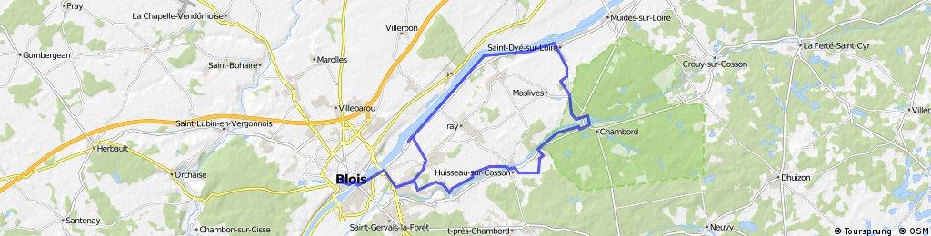 Day 5 - Ibis Blois to Chambord round trip