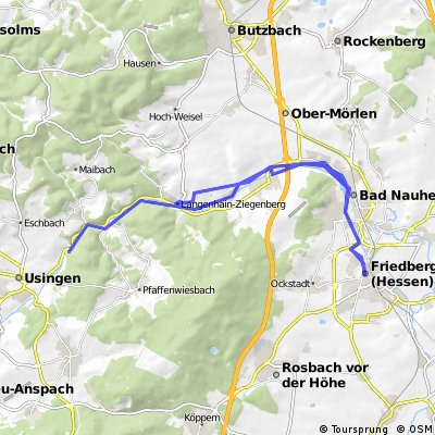 Usatalradweg ab/bis Friedberg