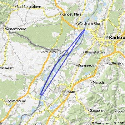 Rountrip Karlsruhe Roppenheim