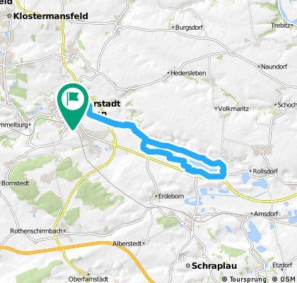 Eisleben- Seeburg- Eisleben um den Süßen See