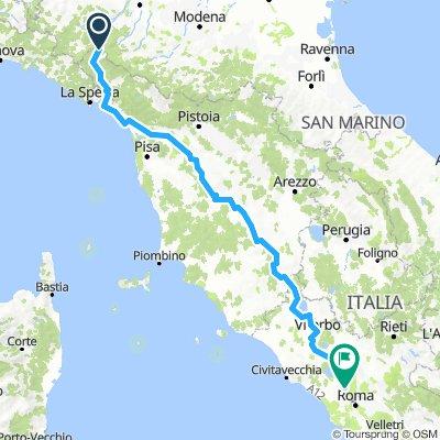 Via Francigena 2ème partie (Passo della Cisa - Roma)