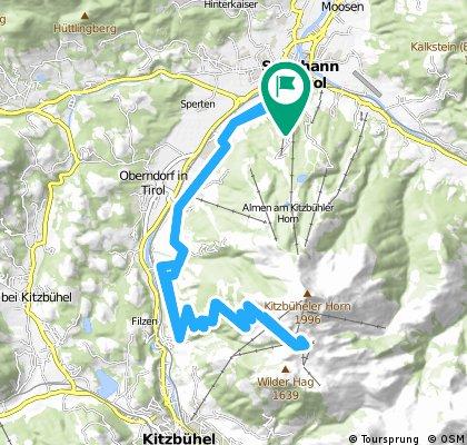 Kitzbühler Horn - von St. Johann nach Kitzbühel und hinaufzum Kitzbühler Horn