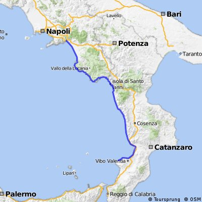 Cycling Routes And Bike Maps In And Around Tropea Bikemap Your