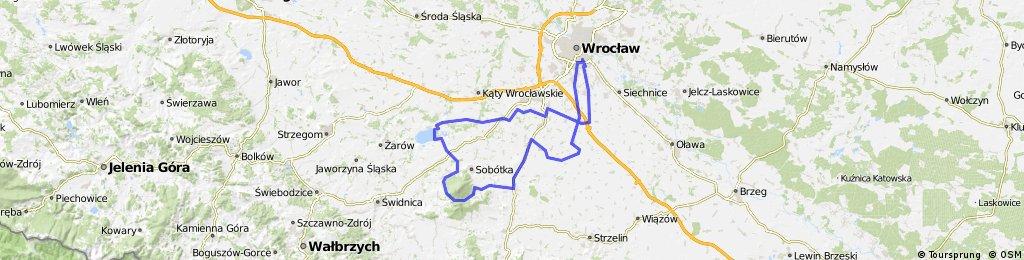 Wrocław-Przełęcz Tąpadła-Zalew Mietkowski-Wrocław(przetarte pośladki)
