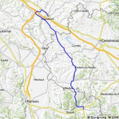 Villefranche-du-Lauragais to Mirepoix