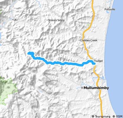 Northern NSW hinterland ride to waterfall