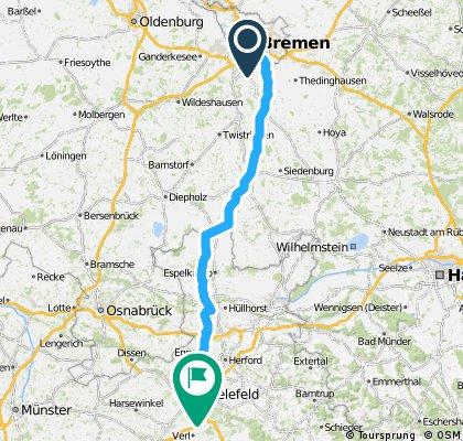 Team WEISSER RING on Tour 2015_2.Etappe_Bremen-Bielefeld