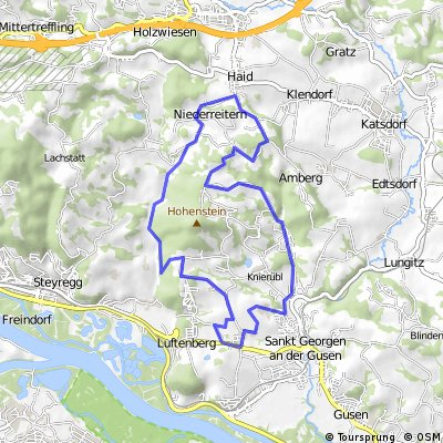 MTB Runde 20km - Pürach - Götzelsdorf - Haid - Wolfing - Hohenstein - Weingraben - St. Georgen