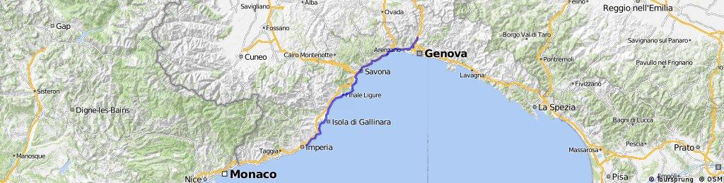 Nice - Slow - Stage 2 - Imperia - Savona - Genova