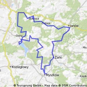 Złoty Potok-Myszków-Poraj-Częstochowa-Złoty Potok