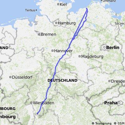 Weinheim-Rostock direkt