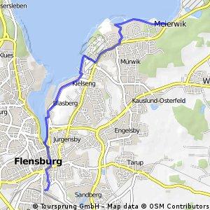 Bhf Flensburg-Glücksburg 9,5km