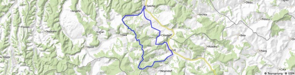 Saschiz - Crit - Cloasterf - Saschiz (MTB) | Bikemap - Your