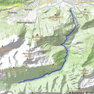Über Partnachalm und Bockhütte zur Reintalangerhütte