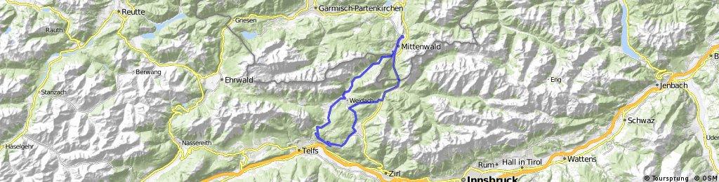 Mittenwald - Mösern - Mittenwald