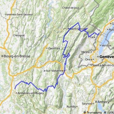 Tour de France Amberieu en Bugey - Divonne les Bains