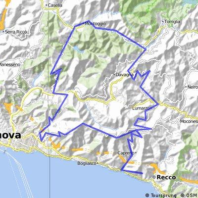 Canepa-Maxena-V.Scrivia-Montoggio-Creto-Fontanegli-Bavari-M.Fasce-Cornua