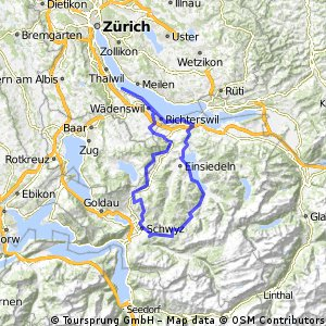 Cycling routes and bike maps in and around Horgen Horgen Dorfkern