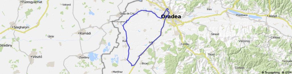 Oradea - Santandrei - Toboliu - Cefa - Inand - Nojorid - Oradea