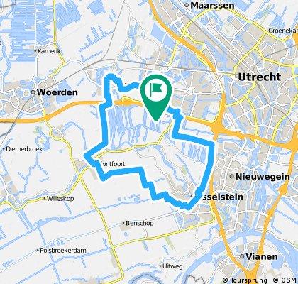 Rondje: IJsselstein, Montfoort, Harmelen.