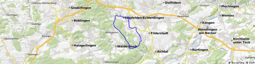 Familientour: L.-Echterdingen - Siebenmühlental - Filderstadt - L.-Echterdingen