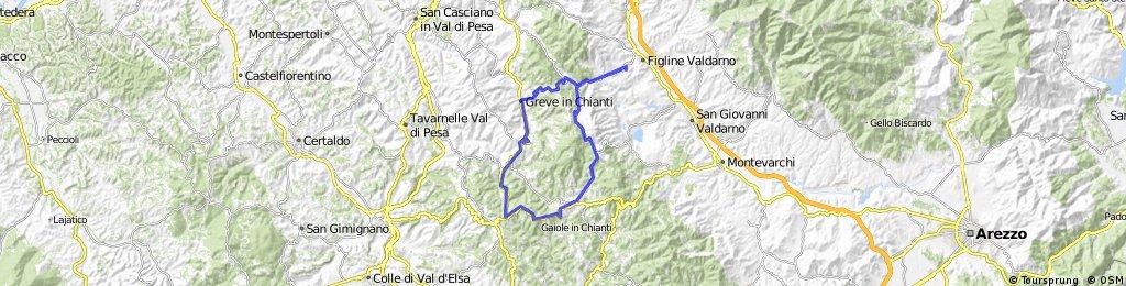 Figline Valdarno - Greve in Chianti