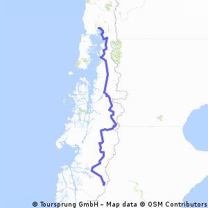 Carretera Australe - 1 230 Kms