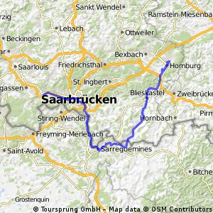 Homburg(Saar)-Sarreguemines-Völkingen