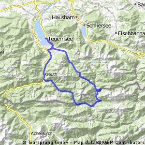 Große Runde am Tegernsee über Erzherzog-Johann-Klause mit Brauhaus