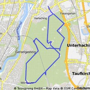 Halbmarathon Training Perlacher Forst
