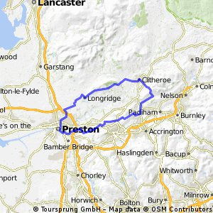 preston to nick of pendle