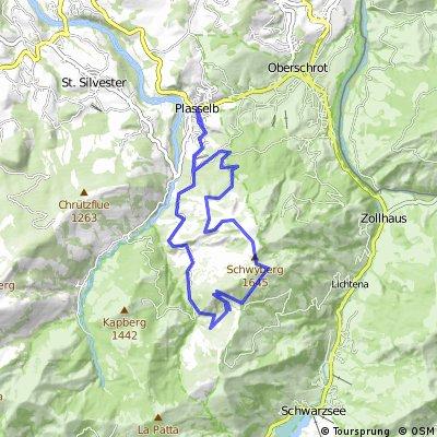Plasselb - Schwyberg Rundtour