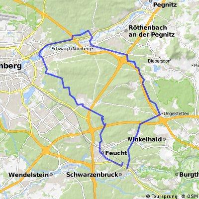 Schwarzenbruck-Birkensee-Beringersdorf-Feucht-Schwarzenbruck