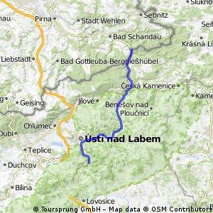 Fietsen Praag naar Dresden etappe 4