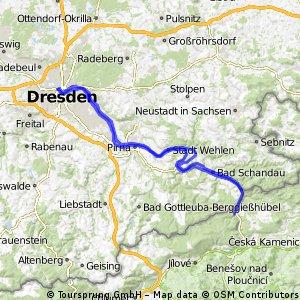 Fietsen van Praag naar Dresden etappe 5