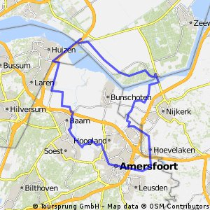 Cycling routes and bike maps in and around Amersfoort Bikemap