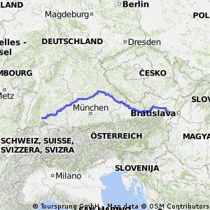 Donauradweg  (Donaueschingen - Wien)