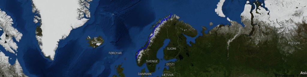 0.1 Norwegen total: Nordkapp - Oslo