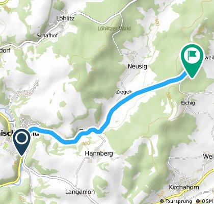 Anstieg Waischenfeld Volsbach