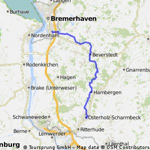 Bremerhaven-Wulsdorf- Oldenbüttel 47mn_ Ohz 57_9km