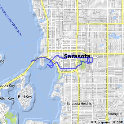 Cycling routes and bike maps in and around Sarasota Bikemap Your