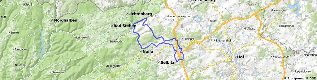 MTB 2 Issigau - Neuhaus  - Brunn - Sellanger - Rodesgrün - Naila - hölle - Issigau