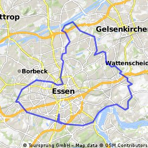 Cycling routes and bike maps in and around Essen Bikemap Your