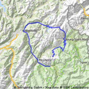 Cycling routes and bike maps in and around Bozel Bikemap Your