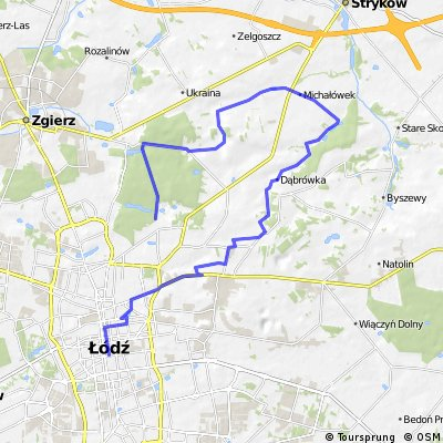 Łódź - Wódka - Dąbrówka - Stary Imielnik - Dobieszków - Dobra - Łódź, ul. Żółwiowa - ul. Wycieczkowa (2015-09-27)