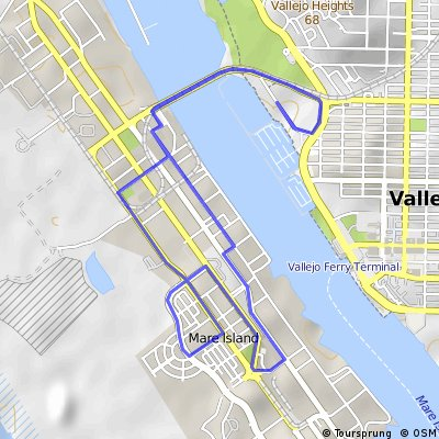 Cycling routes and bike maps in and around Vallejo Bikemap Your