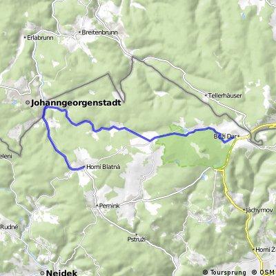 Mountainbiketocht Ertsgebergte - dag 1
