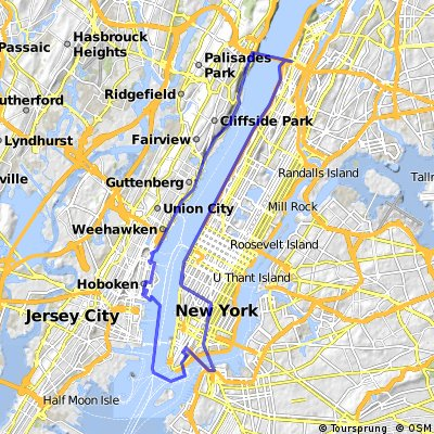 Cycling routes and bike maps in and around Fort Lee | Bikemap - Your ...